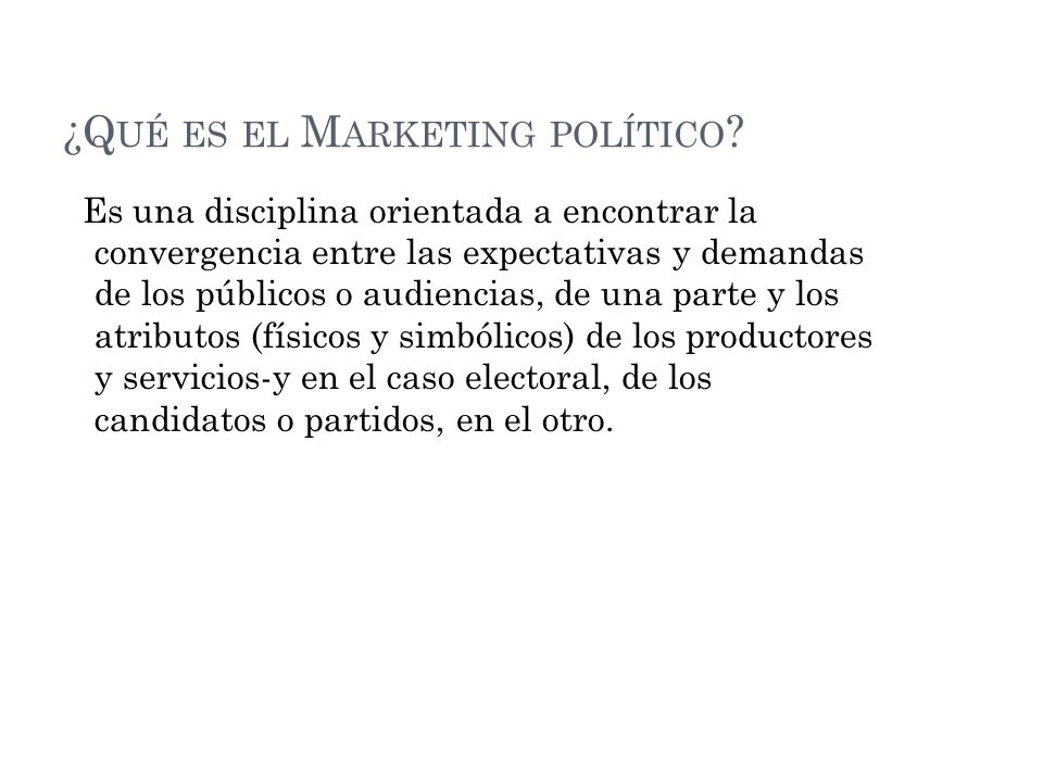 ¿Qué es el Marketing político