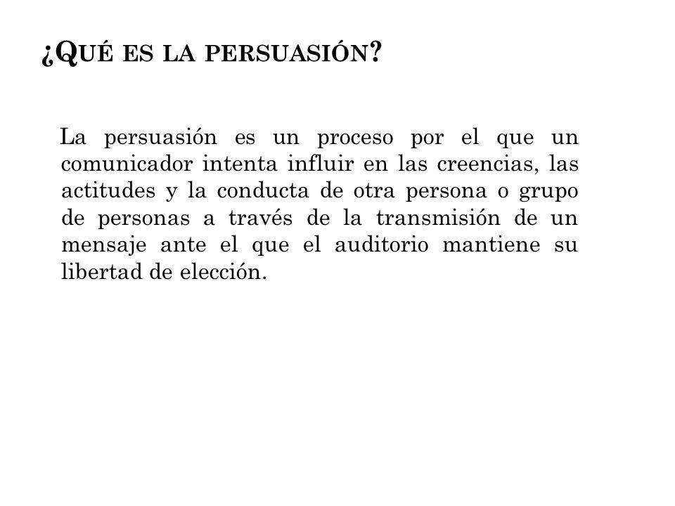 ¿Qué es la persuasión