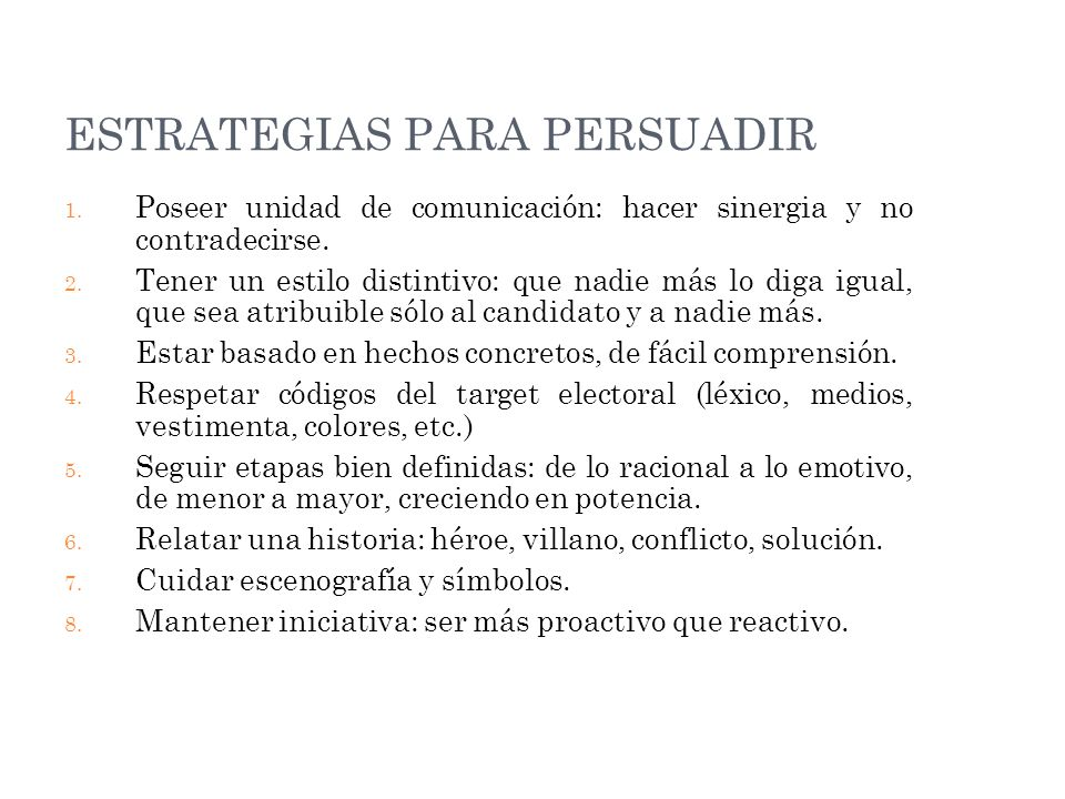 ESTRATEGIAS PARA PERSUADIR