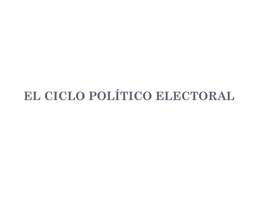 EL CICLO POLÍTICO ELECTORAL