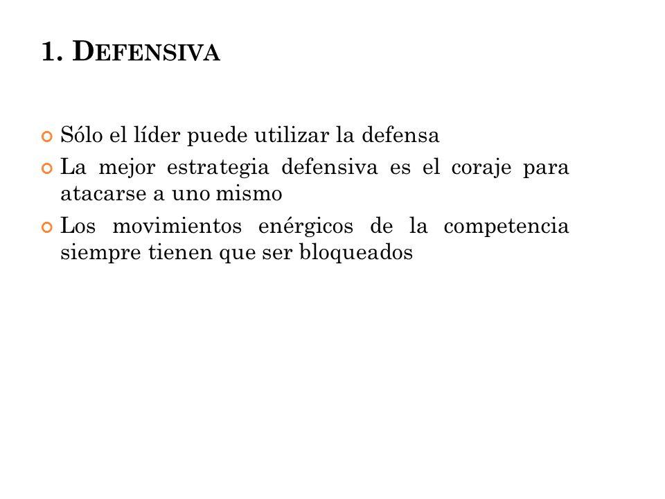 1. Defensiva Sólo el líder puede utilizar la defensa