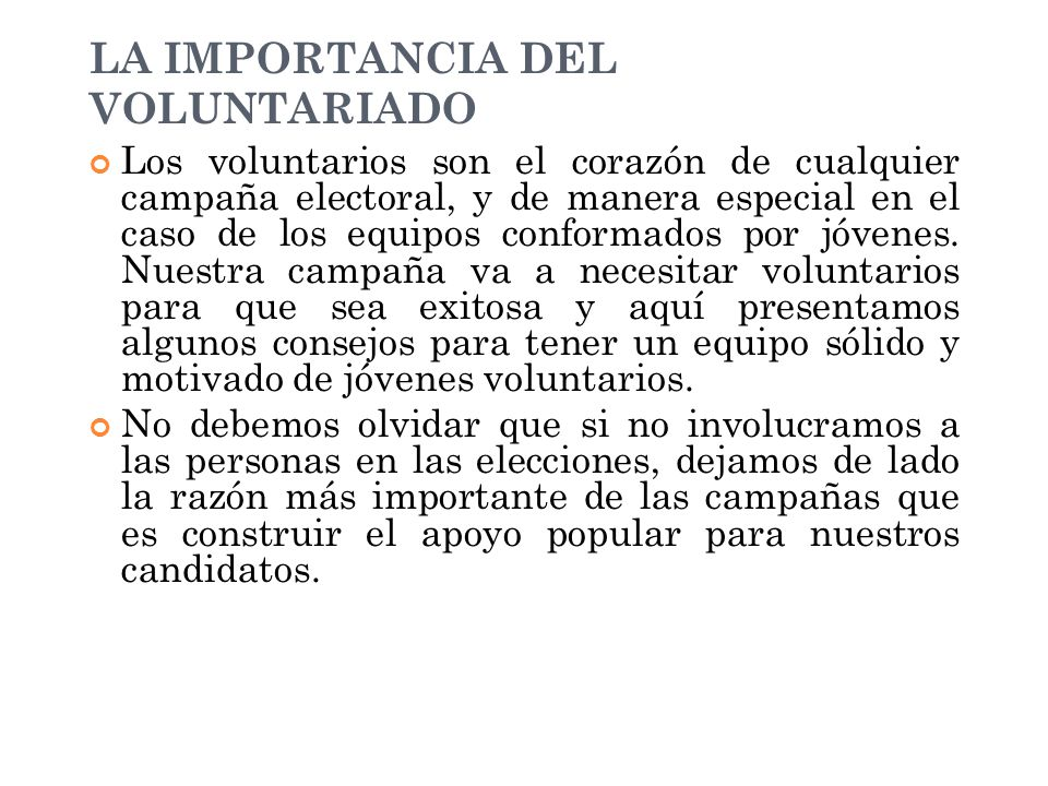 LA IMPORTANCIA DEL VOLUNTARIADO