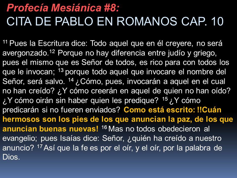 CITA DE PABLO EN ROMANOS CAP. 10