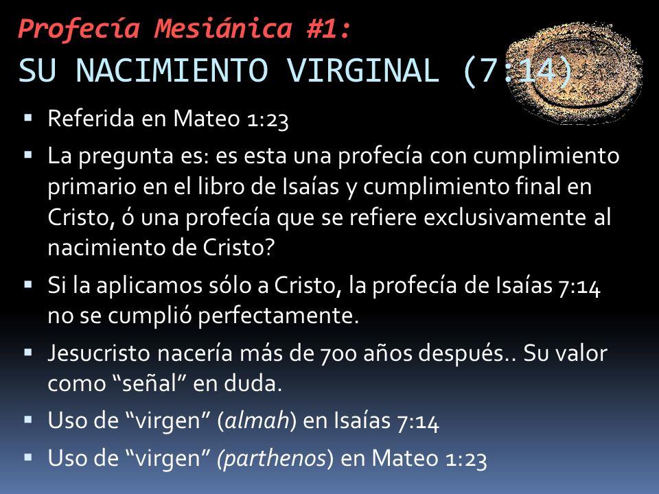Profecía Mesiánica #1: SU NACIMIENTO VIRGINAL (7:14)