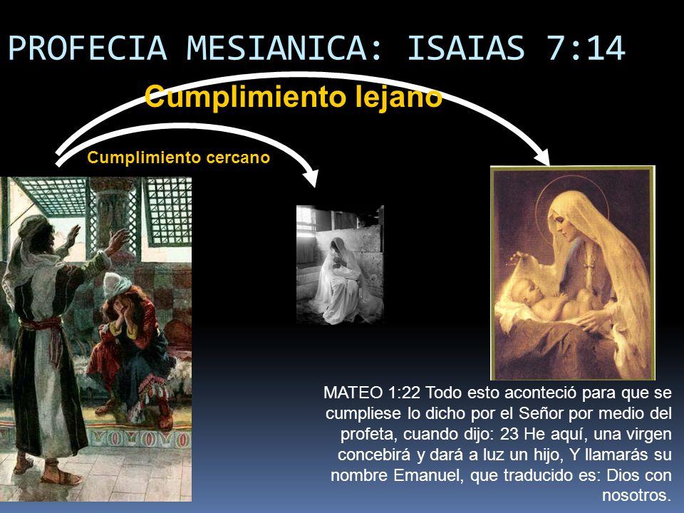 PROFECIA MESIANICA: ISAIAS 7:14