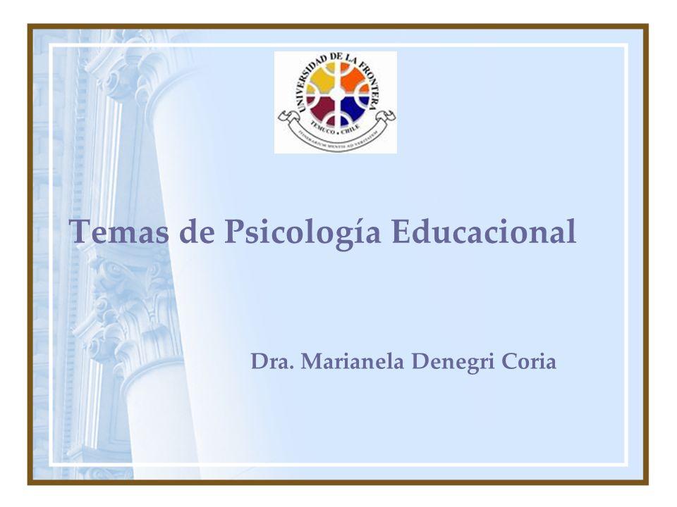 Temas de Psicología Educacional