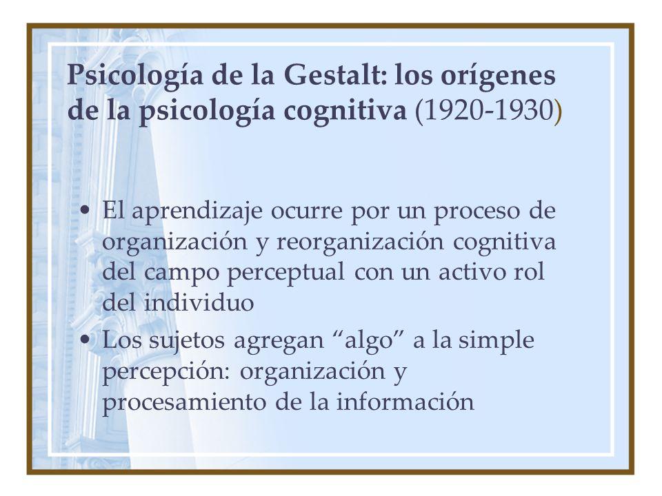 Psicología de la Gestalt: los orígenes de la psicología cognitiva (1920-1930)
