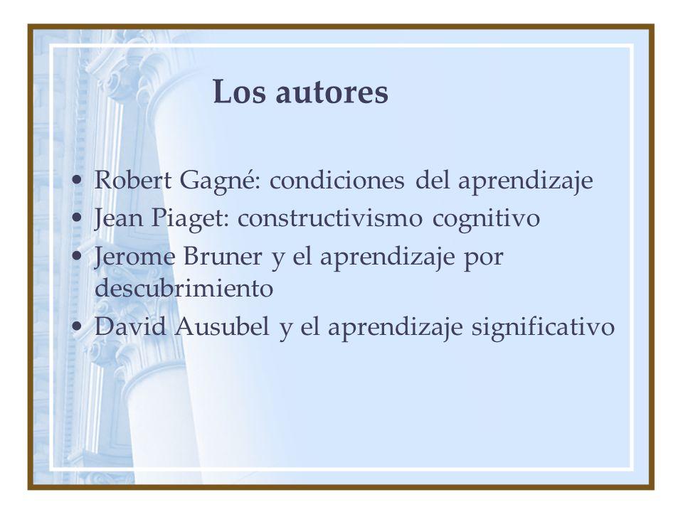 Los autores Robert Gagné: condiciones del aprendizaje
