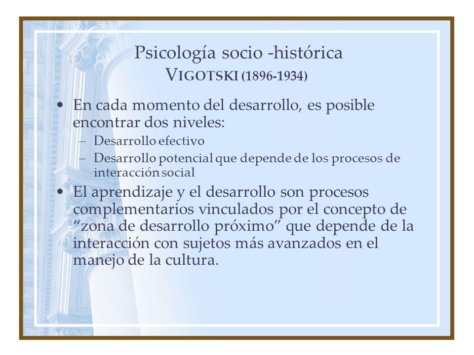 Psicología socio -histórica VIGOTSKI (1896-1934)