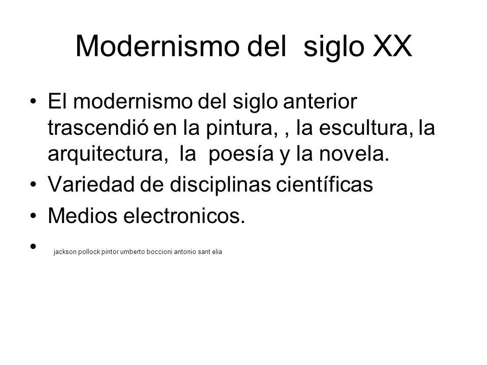 Modernismo del siglo XX