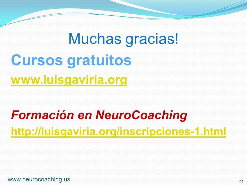 Muchas gracias! Cursos gratuitos www.luisgaviria.org