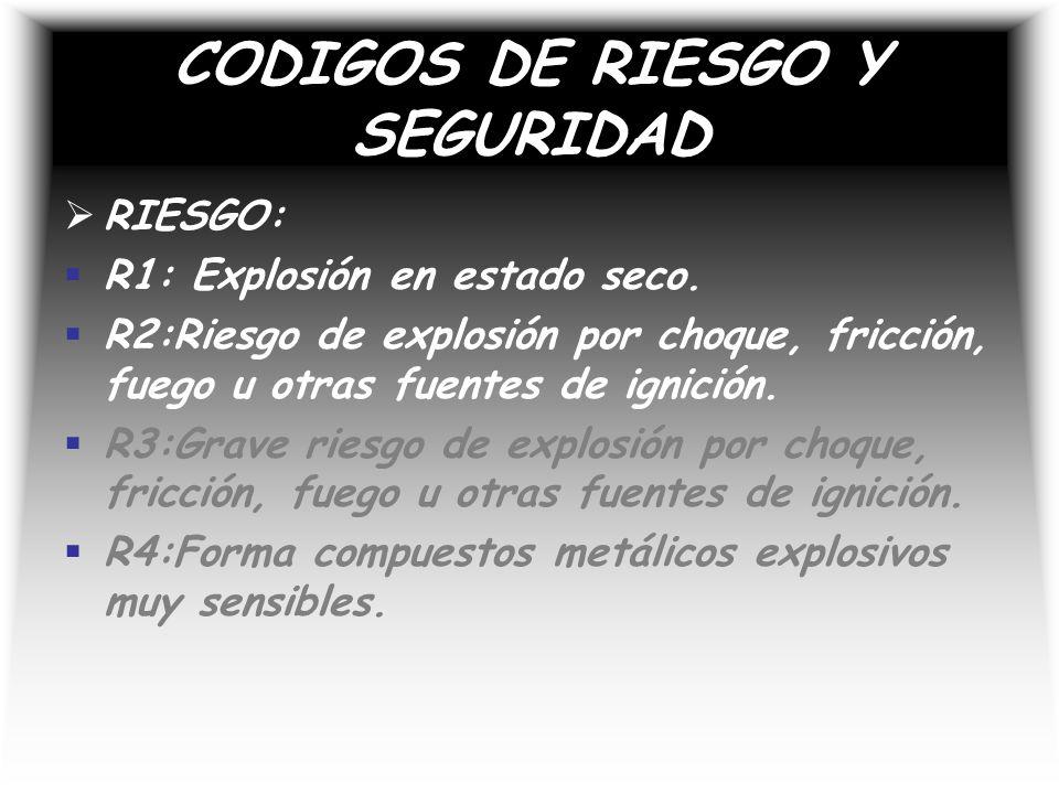 CODIGOS DE RIESGO Y SEGURIDAD