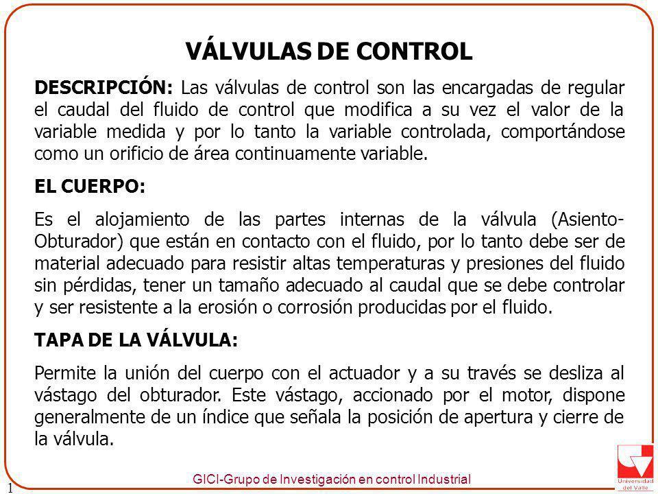 1 VÁLVULAS DE CONTROL.