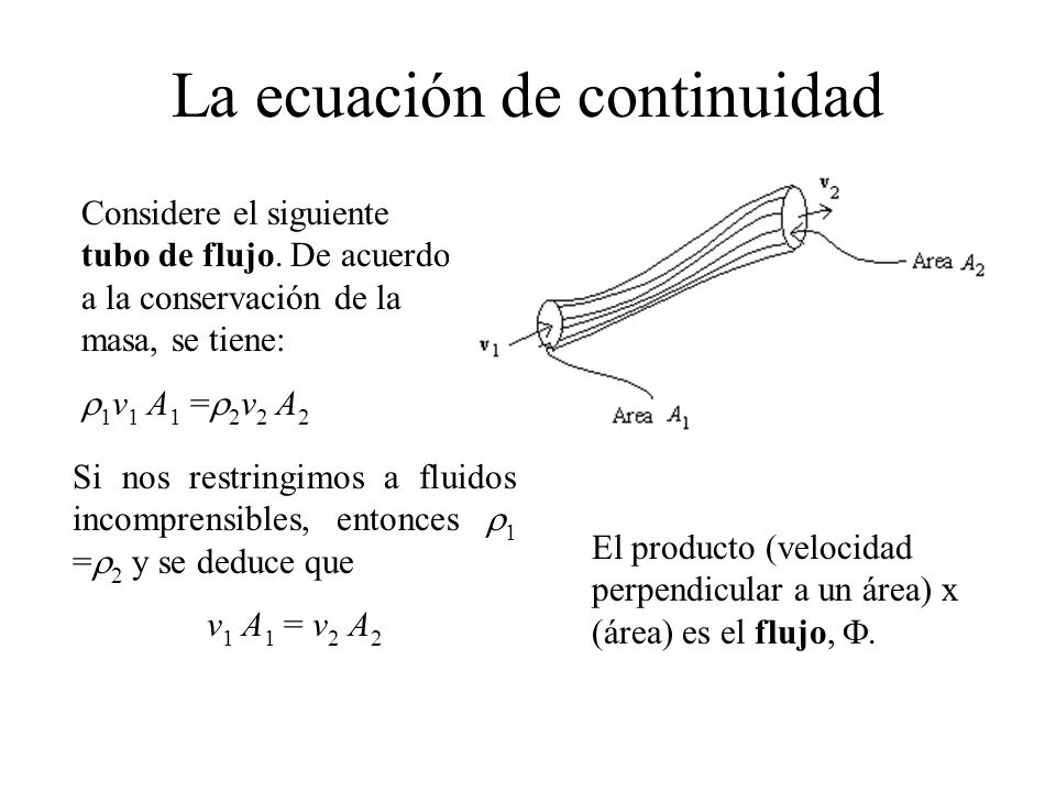 La ecuación de continuidad