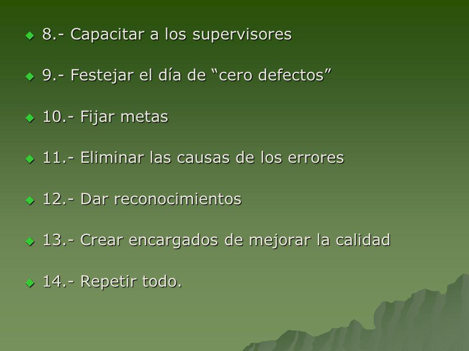 8.- Capacitar a los supervisores