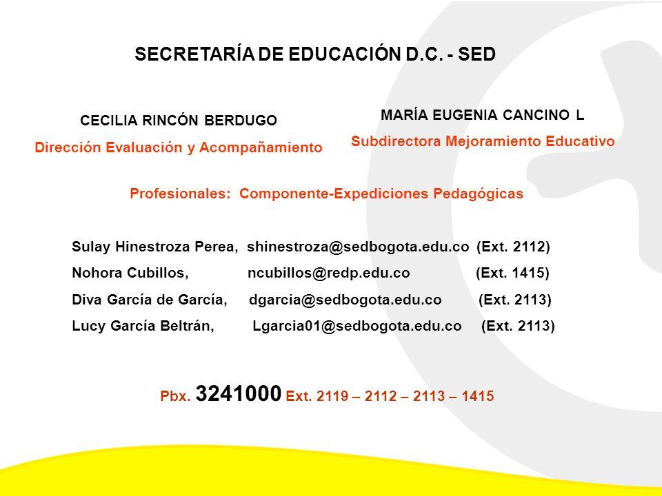 SECRETARÍA DE EDUCACIÓN D.C. - SED