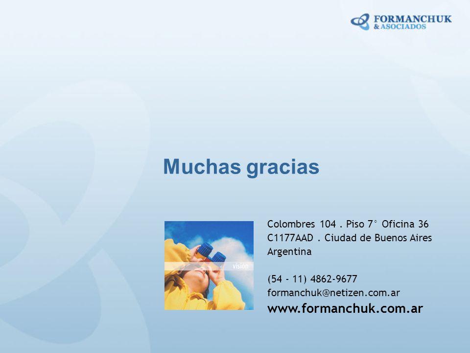 Muchas gracias www.formanchuk.com.ar