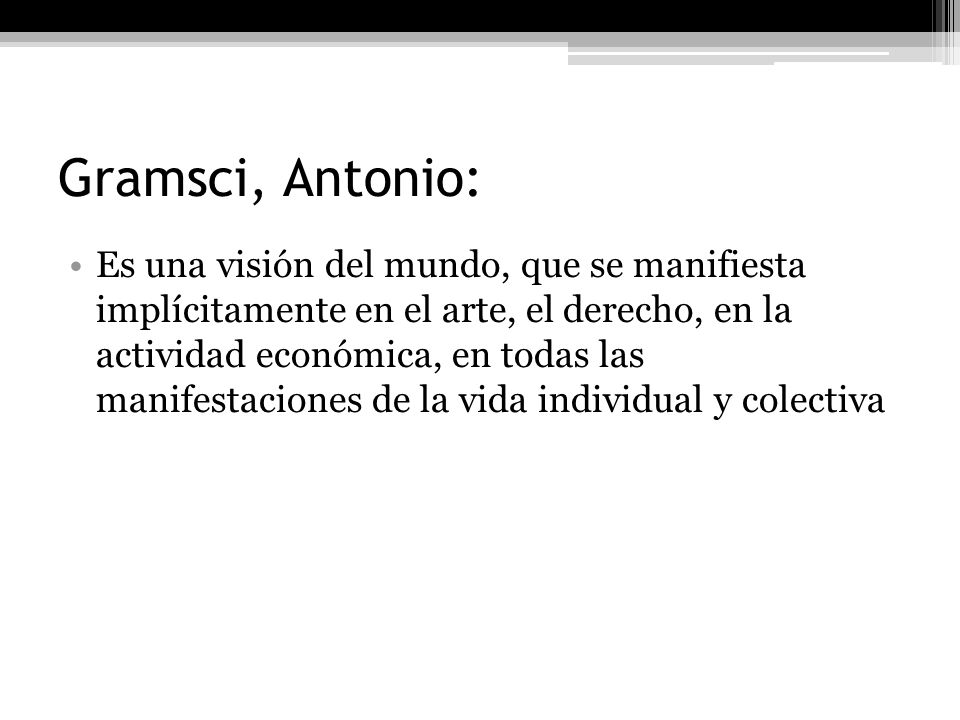 Gramsci, Antonio: