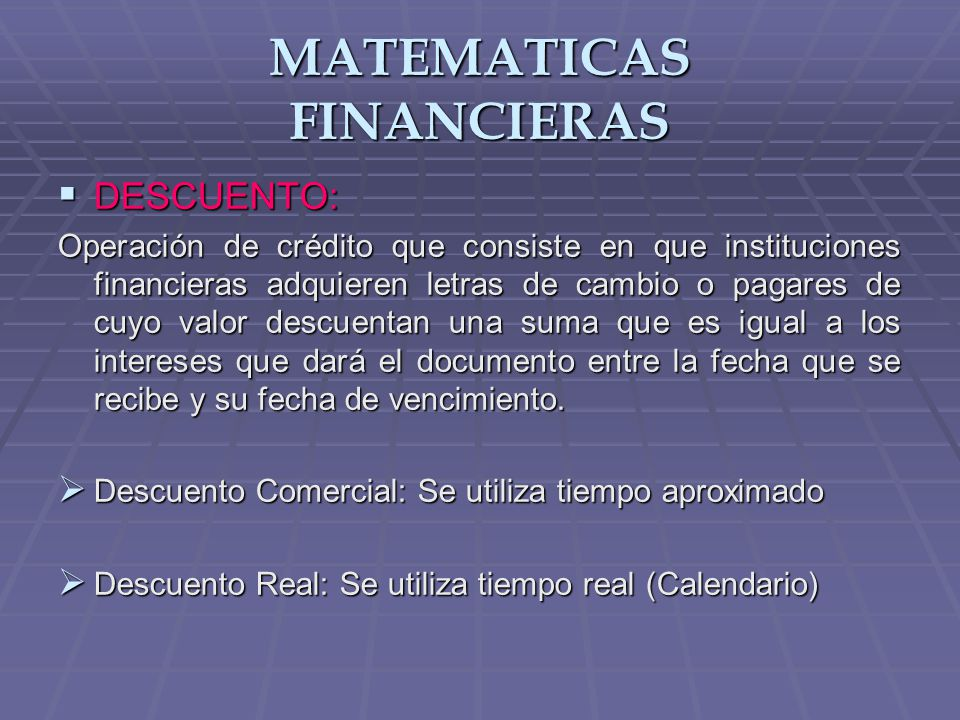 MATEMATICAS FINANCIERAS