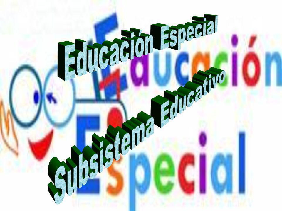 Educación Especial Subsistema Educativo