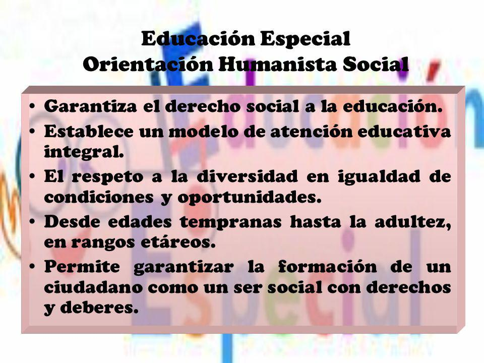 Educación Especial Orientación Humanista Social