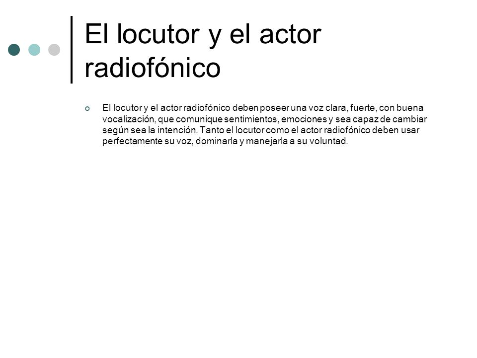El locutor y el actor radiofónico