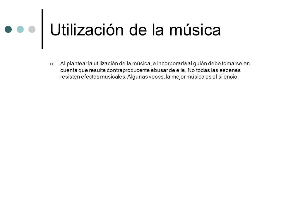 Utilización de la música