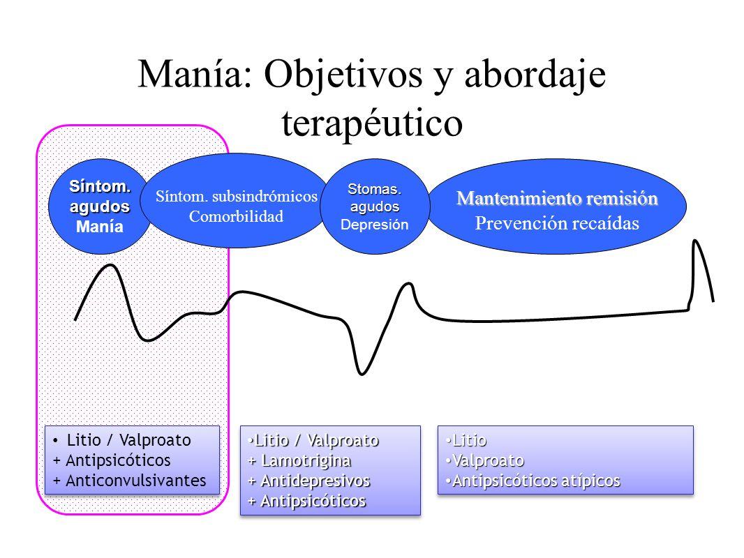 Manía: Objetivos y abordaje terapéutico