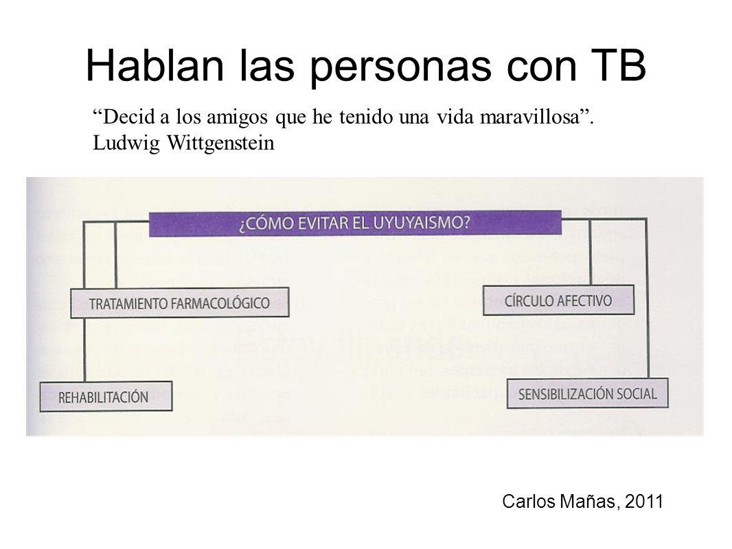 Hablan las personas con TB
