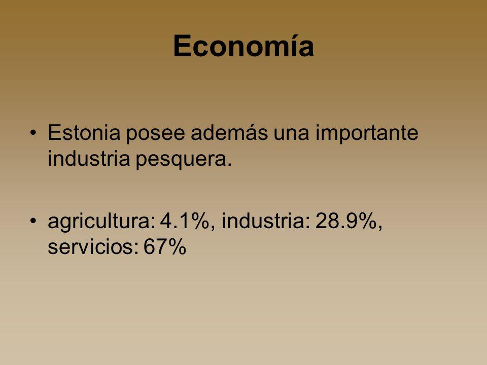 Economía Estonia posee además una importante industria pesquera.