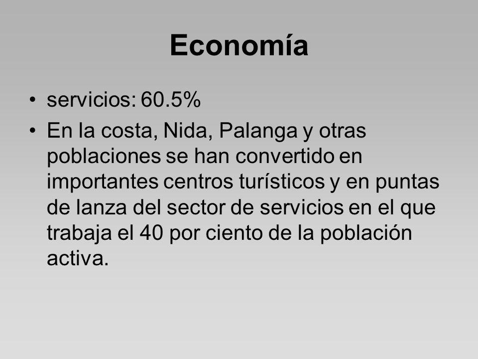 Economía servicios: 60.5%