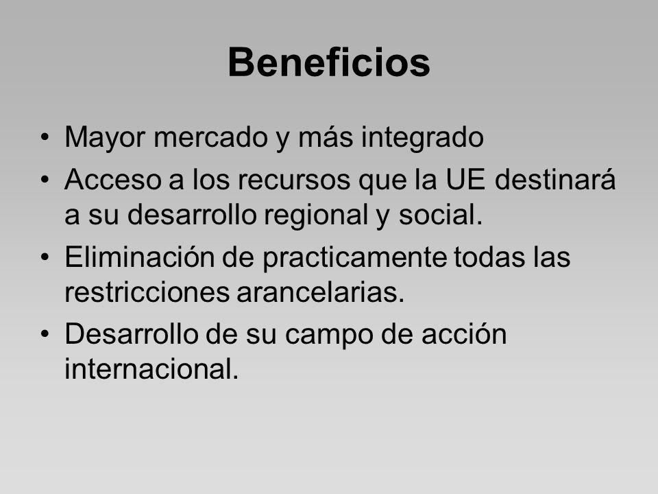 Beneficios Mayor mercado y más integrado