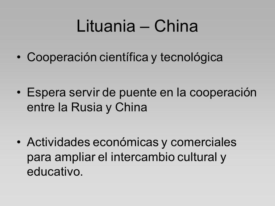 Lituania – China Cooperación científica y tecnológica