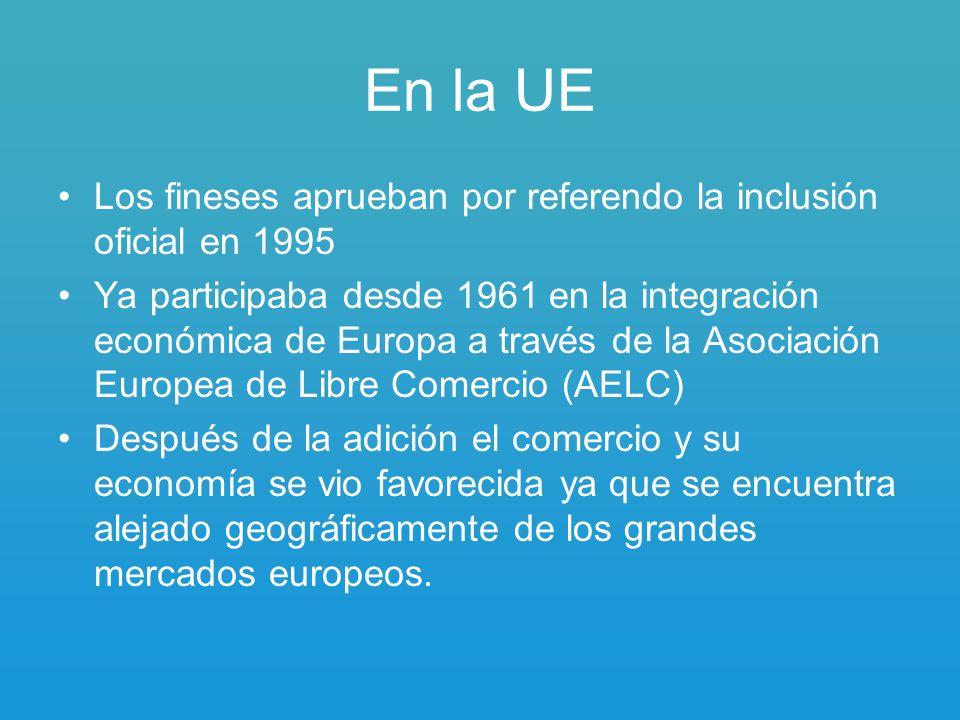 En la UE Los fineses aprueban por referendo la inclusión oficial en 1995.