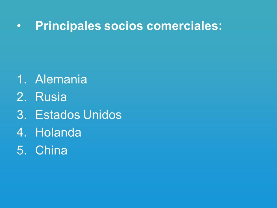 Principales socios comerciales: