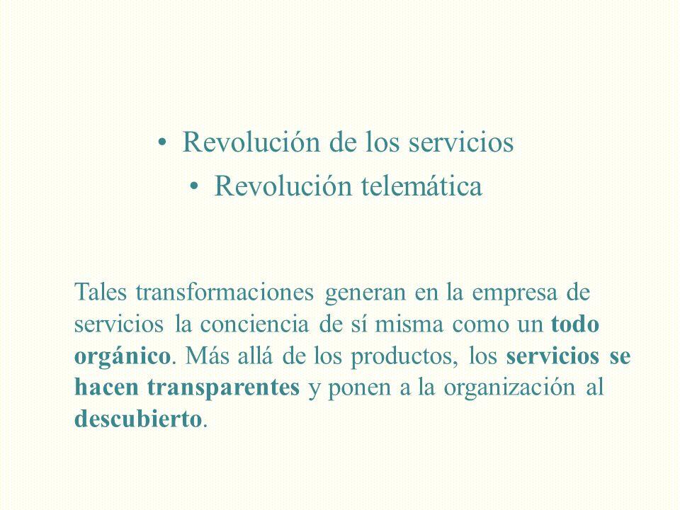 Revolución de los servicios Revolución telemática