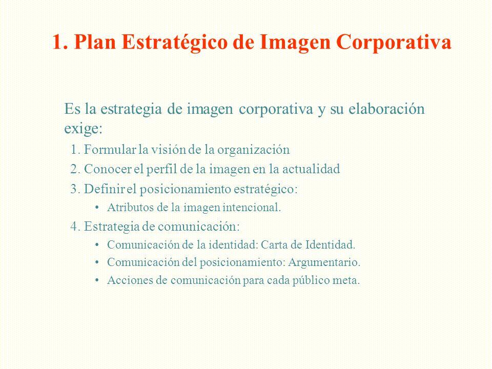 1. Plan Estratégico de Imagen Corporativa