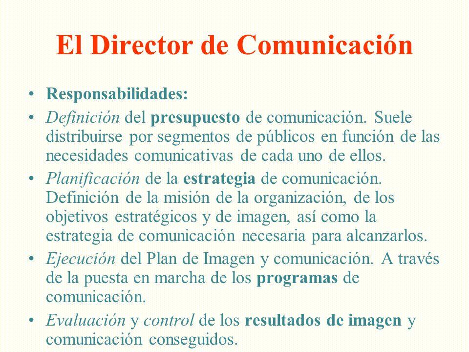 El Director de Comunicación