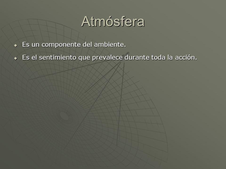 Atmósfera Es un componente del ambiente.