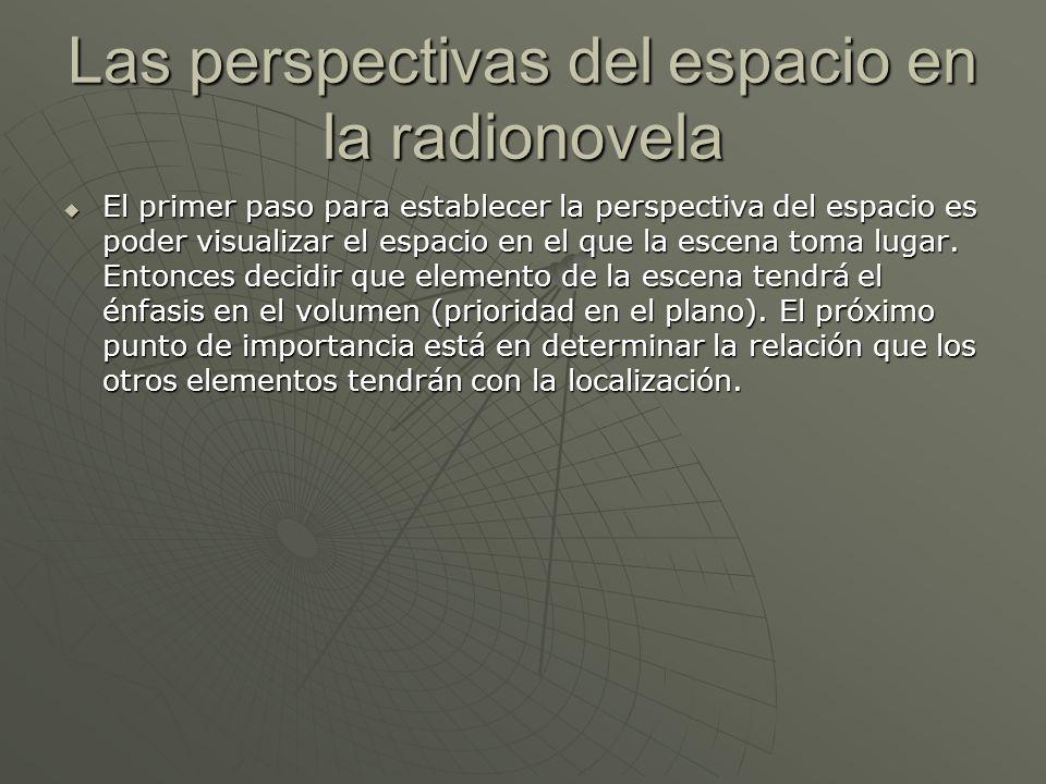 Las perspectivas del espacio en la radionovela