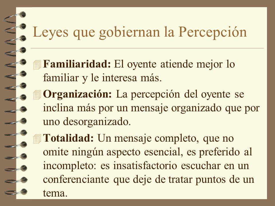 Leyes que gobiernan la Percepción