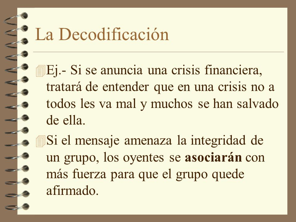 La Decodificación