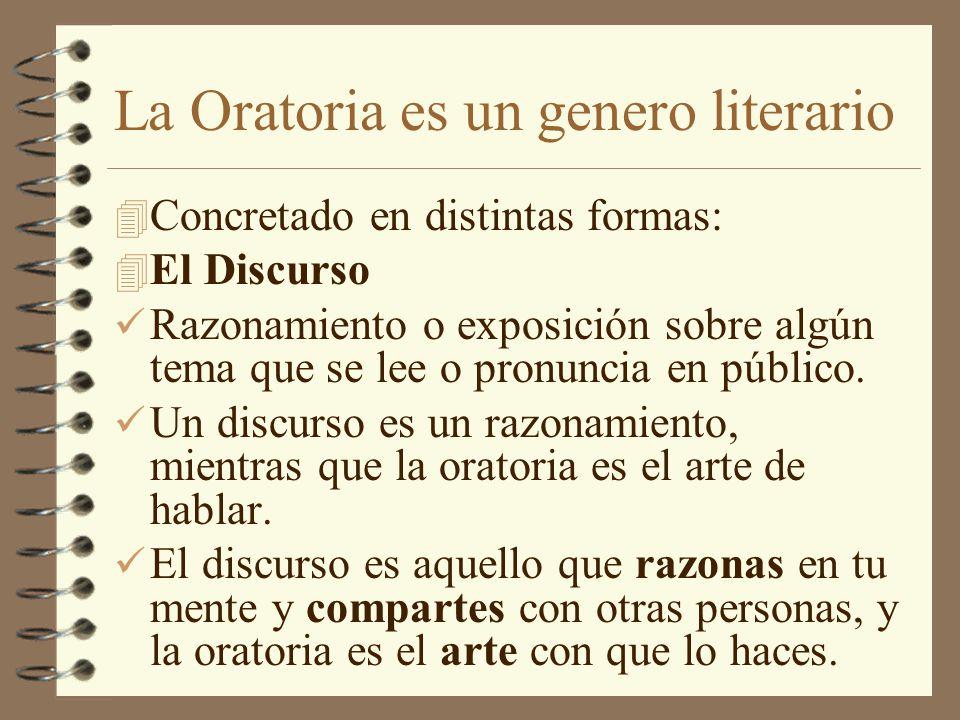 La Oratoria es un genero literario