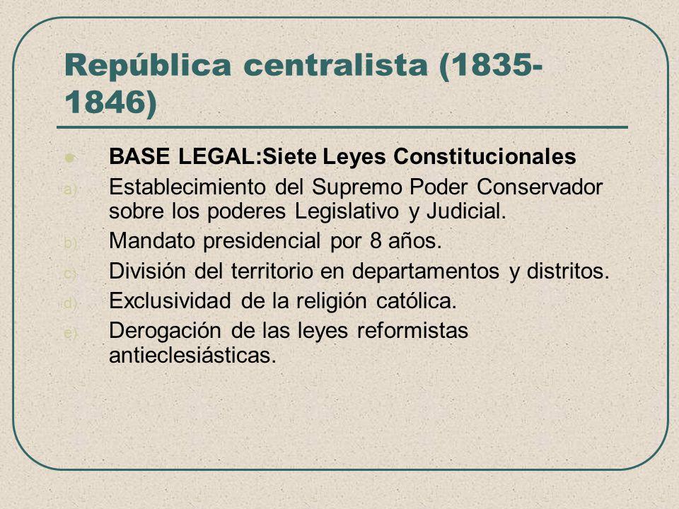 República centralista (1835-1846)