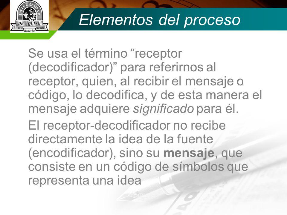 Elementos del proceso