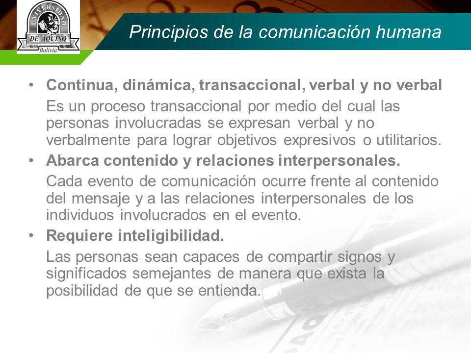 Principios de la comunicación humana