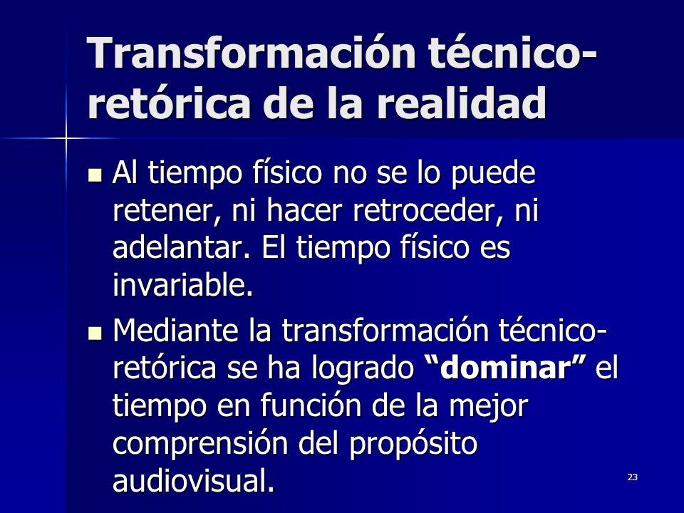 Transformación técnico-retórica de la realidad