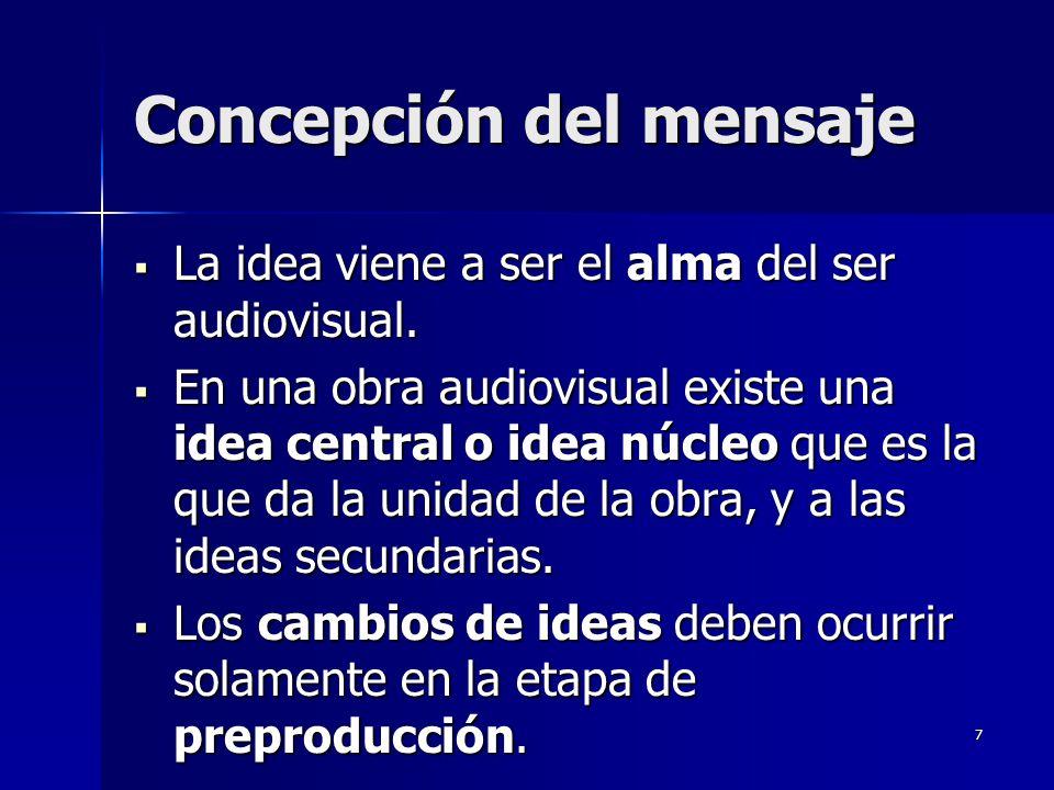 Concepción del mensaje