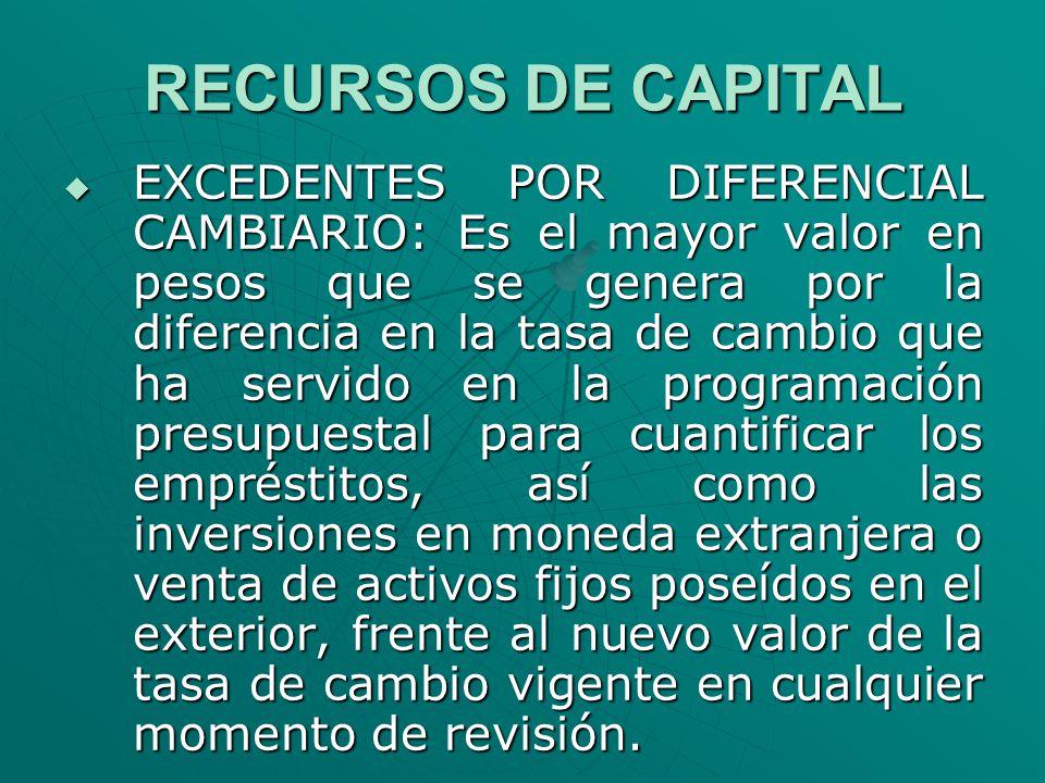 RECURSOS DE CAPITAL