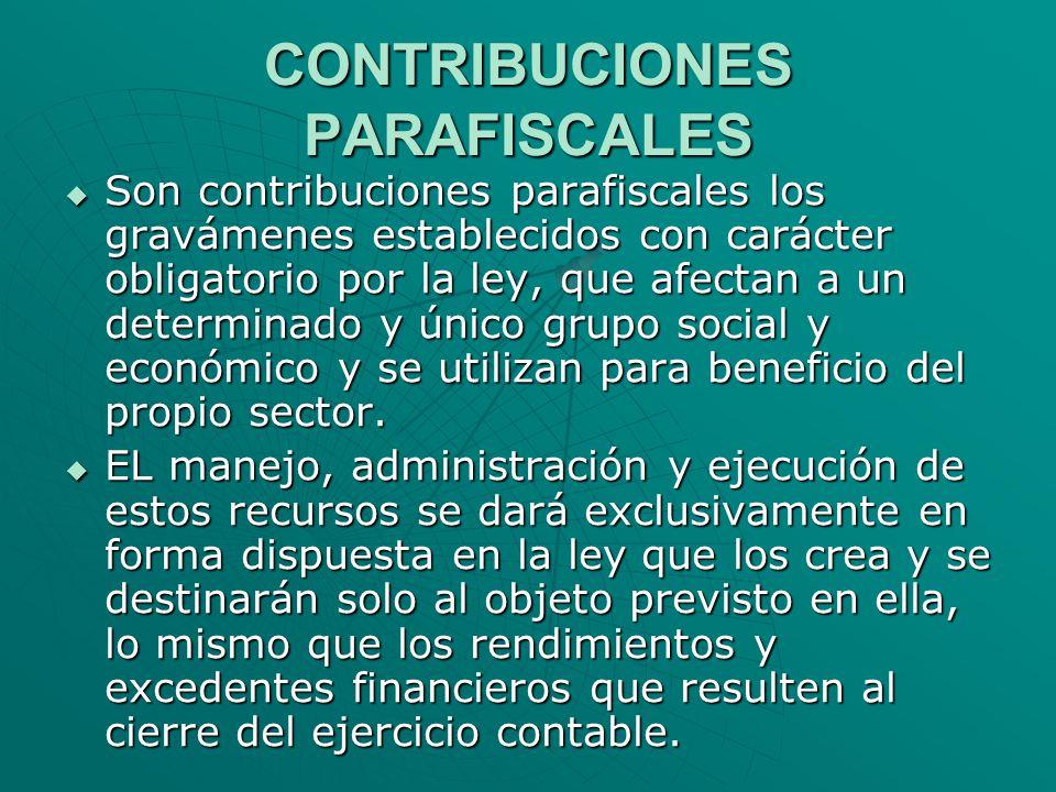 CONTRIBUCIONES PARAFISCALES